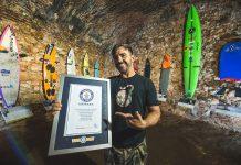 Cerimônia de premiação do Guinness World Records, Nazaré, Portugal.