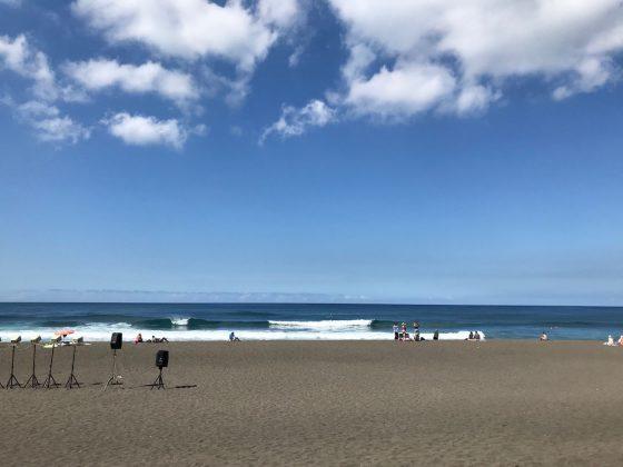 Boas ondas rolaram durante todo o evento, Mundial Master 2018, Açores, Portugal. Foto: Arquivo pessoal Fabio Gouveia.