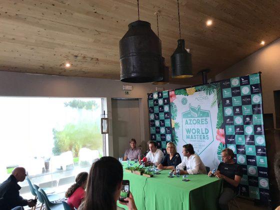 Coletiva de imprensa, Mundial Master 2018, Açores, Portugal. Foto: Arquivo pessoal Fabio Gouveia.