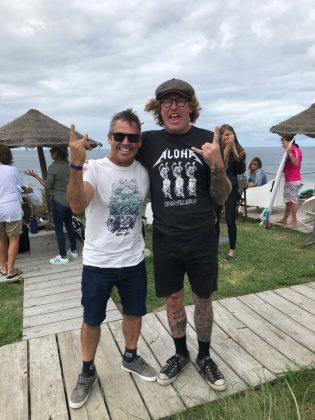 Fabio Gouveia e Matt Hoy, Mundial Master 2018, Açores, Portugal. Foto: Arquivo pessoal Fabio Gouveia.
