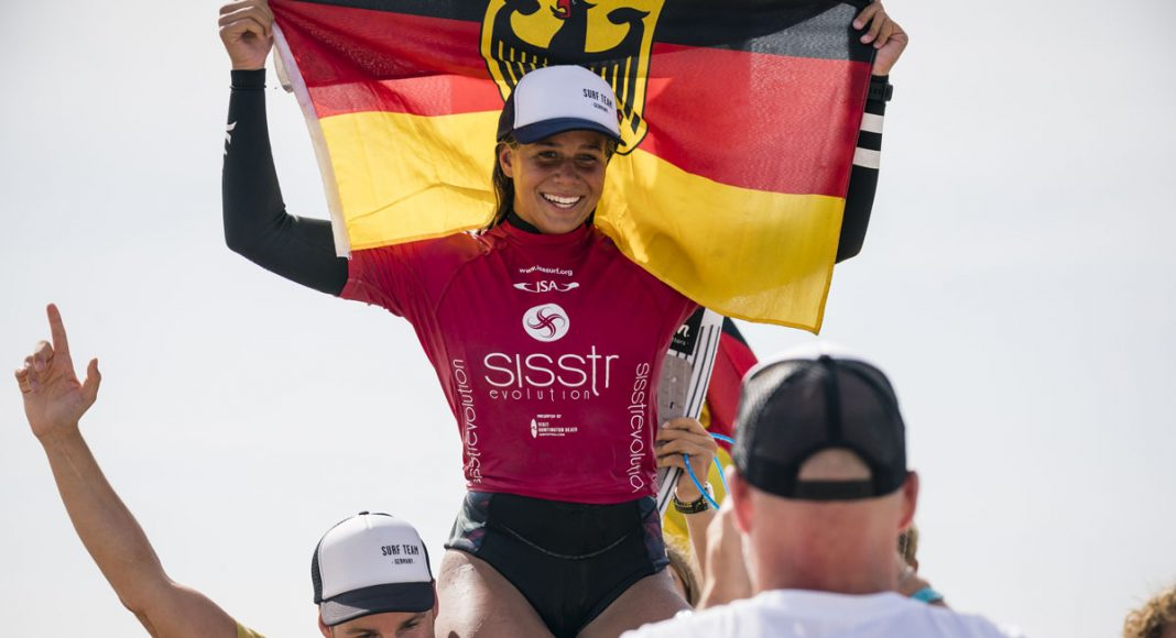 Rachel Presti, Vissla ISA World Junior Championship 2018, Huntington Beach, Califórnia (EUA). Foto: ISA / Ben Reed.