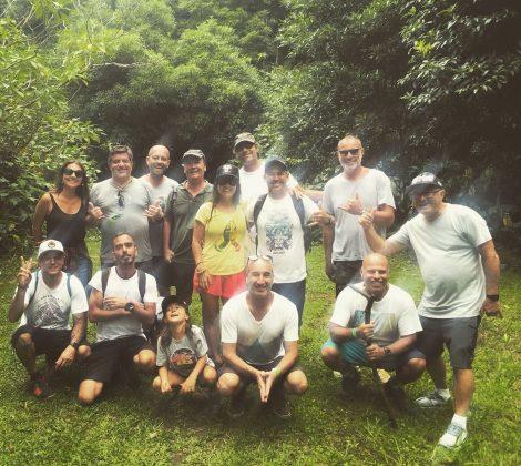 Galera envolvida no evento em foto durante trilha nos Açores, Mundial Master 2018, Açores, Portugal. Foto: Arquivo pessoal Fabio Gouveia.