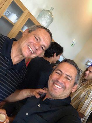 Glen Wilton e Fabio Gouveia, Mundial Master 2018, Açores, Portugal. Foto: Arquivo pessoal Fabio Gouveia.