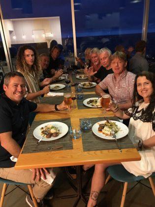 Jantar de abertura do Açores Masters 2018, Mundial Master 2018, Açores, Portugal. Foto: Arquivo pessoal Fabio Gouveia.