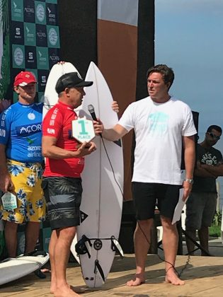 O campeão Grand Master Rob Bain, Mundial Master 2018, Açores, Portugal. Foto: Arquivo pessoal Fabio Gouveia.