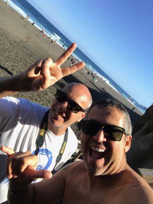 Julio Ader e Fabio Gouveia, Mundial Master 2018, Açores, Portugal. Foto: Arquivo pessoal Fabio Gouveia.