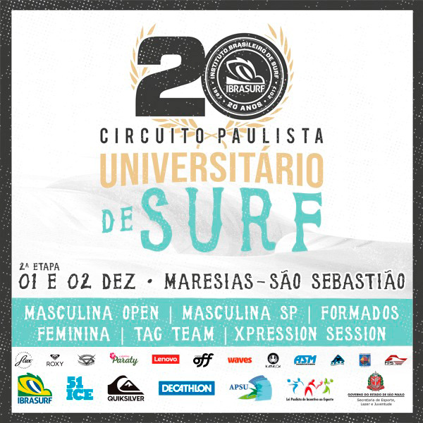 Cartaz da segunda etapa do Circuito.