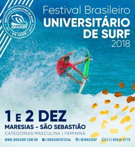 Cartaz do Festival Brasileiro Universitário 2018.