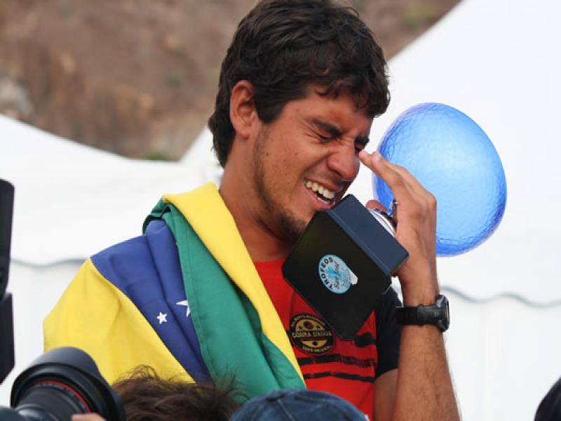 Uri Valadão durante o título mundial de 2008, em El Confital, Ilhas Canárias.