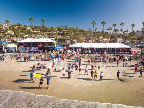 Estrutura do evento, ISA World Adaptive 2018, La Jolla, Califórnia (EUA). Foto: ISA / Sean Evans.
