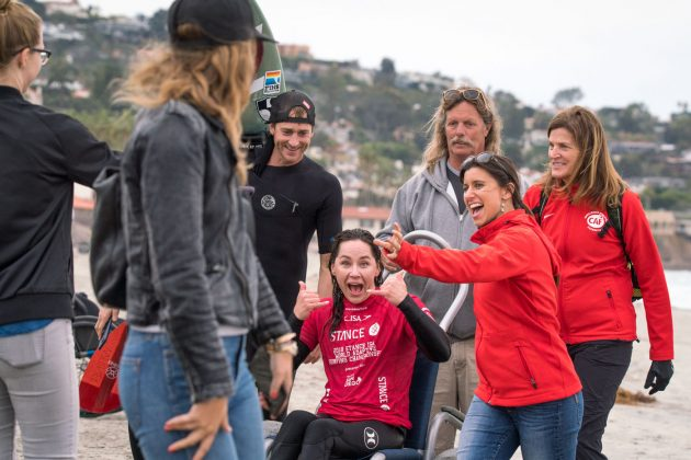 Alana Nichols, ISA World Adaptive 2018, La Jolla, Califórnia (EUA). Foto: ISA / Evans.
