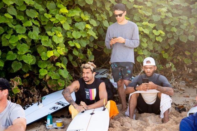 Italo Ferreira e Jadson André, Vans World Cup 2018, Sunset, North Shore de Oahu, Havaí. Foto: WSL / Heff.