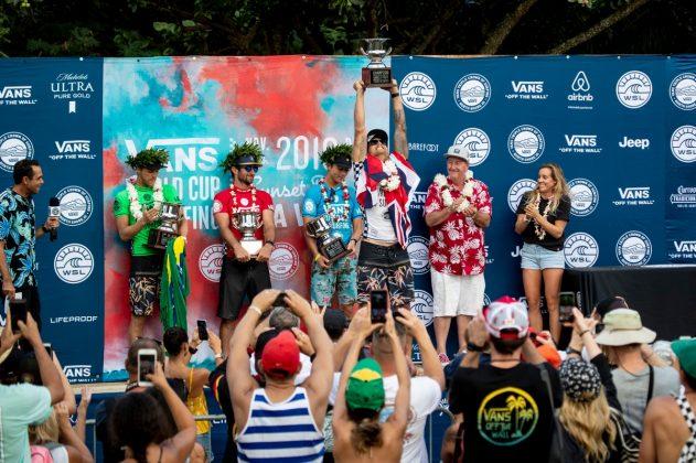 Jessé Mendes, Joan Duru, Griffin Colapinto e Ezekiel Lau, Vans World Cup 2018, Sunset, North Shore de Oahu, Havaí. Foto: WSL / Heff.