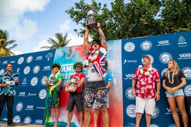 Jessé Mendes, Joan Duru, Griffin Colapinto e Ezekiel Lau, Vans World Cup 2018, Sunset, North Shore de Oahu, Havaí. Foto: WSL / Keoki.