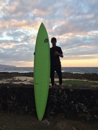 Vitor Ferreira, North Shore de Oahu, Havaí. Foto: Arquivo pessoal.