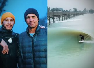 Lewis Hamilton e Kelly Slater, Surf Ranch, Lemoore, Califórnia (EUA).