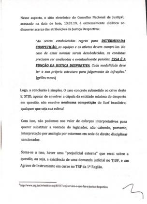 Decisão do STJD. Foto: Reprodução.