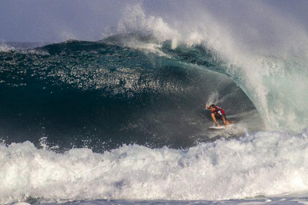 Marc Lacomare, Volcom Pipe Pro 2019, North Shore de Oahu, Havaí. Foto: WSL / Keoki.