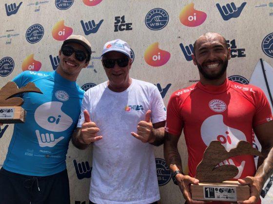 Yago Dora, Alfio Lagnado e Jadson André, Oi Hang Loose Pro Contest 2019, Cacimba do Padre, Fernando de Noronha (PE). Foto: Fábio Maradei.