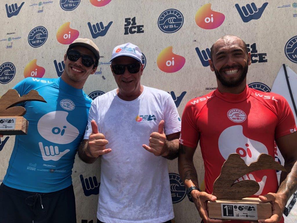Yago Dora, Alfio Lagnado e Jadson André comemoram o sucesso do evento em Fernando de Noronha.