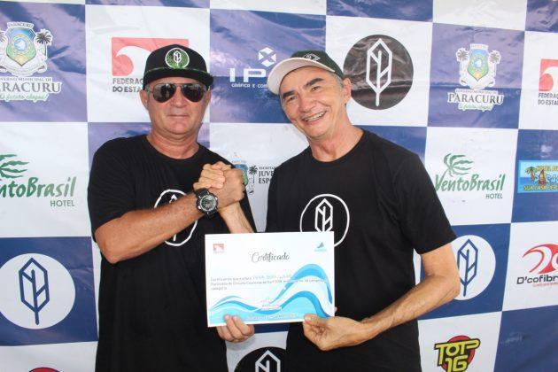 Amelio Jr. e Raimundo Pena, Pena Paracuru Pro 2019, Ronco do Mar (CE). Foto: Lima Jr.