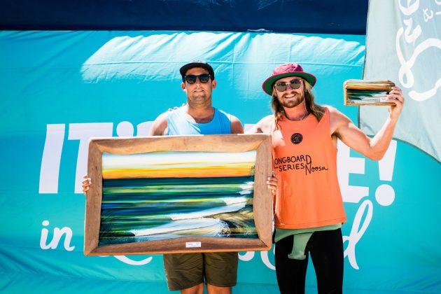 Justin Quintal e Steven Sawyer, Noosa Longboard Open 2019, Austrália. Foto: WSL / Jack Barripp.