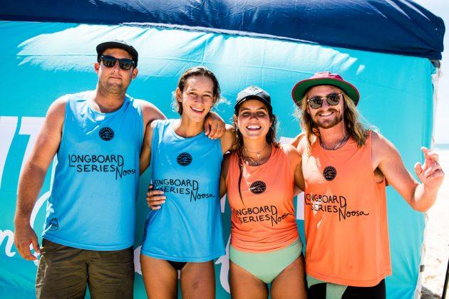 Cerimônia de premiação, Noosa Longboard Open 2019, Austrália. Foto: WSL / Jack Barripp.