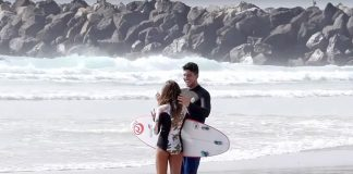 Sophia e Gabriel Medina, Duranbah, Gold Coast, Austrália