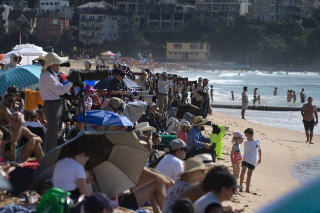 Crowd, Vissla Sydney Surf Pro 2019, Manly Beach, Austrália. Foto: WSL / Smith.