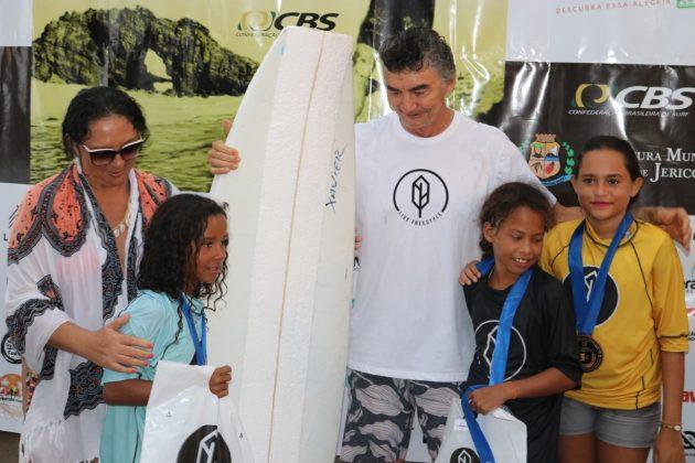 Pódio Feminino Kids, Jericoacoara Cultura Longboard Festival 2019, Ceará. Foto: Lima Jr..