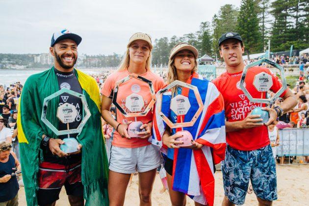 Finalistas, Vissla Sydney Surf Pro 2019, Manly Beach, Austrália. Foto: WSL / Dunbar.