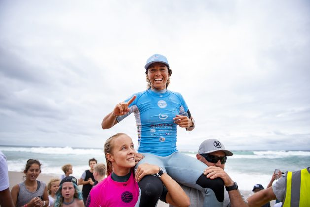 Sally Fitzgibbons, Newcastle Surfest 2019, Merewether Beach, Austrália. Foto: WSL / Tom Bennett.