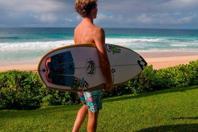 Griffin Colapinto usou no Havaí e está empolgado com o modelo. Foto: Reprodução.