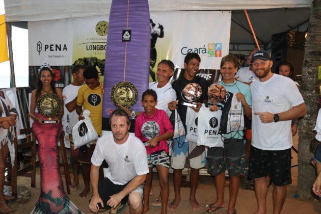 Pódio Júnior, Jericoacoara Cultura Longboard Festival 2019, Ceará. Foto: Lima Jr..