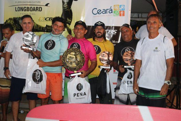 Pódio Legends, Jericoacoara Cultura Longboard Festival 2019, Ceará. Foto: Lima Jr..