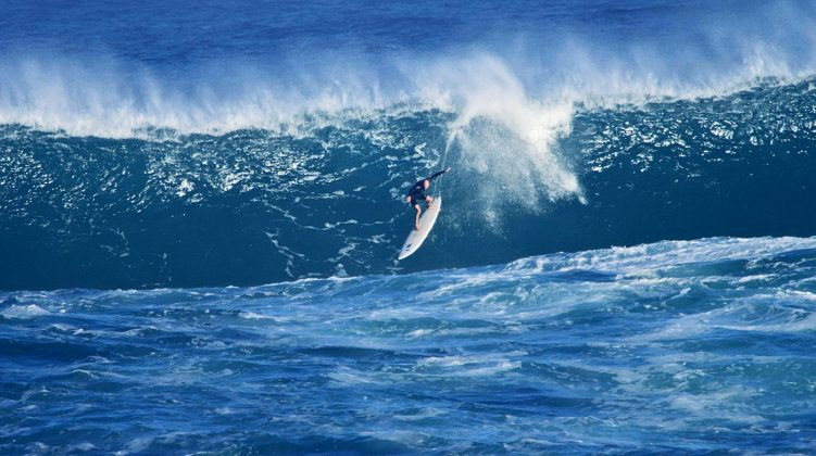 Manny Resano, Waimea Bay, North Shore de Oahu, Havaí. Foto: Bruno Lemos / Sony Brasil.
