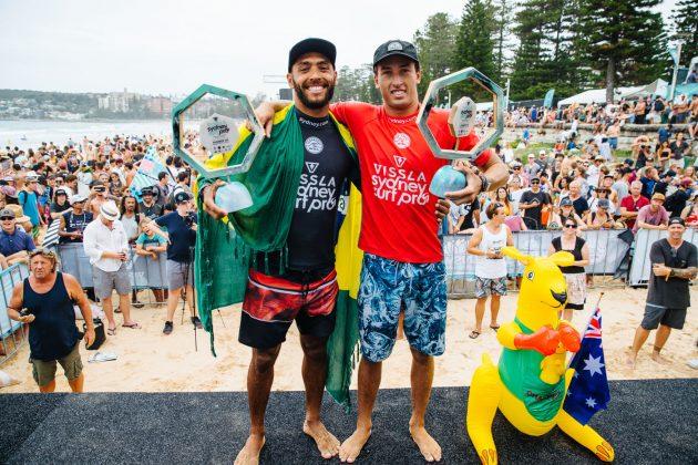 Jadson André e Jordan Lawler, Vissla Sydney Surf Pro 2019, Manly Beach, Austrália. Foto: WSL / Dunbar.