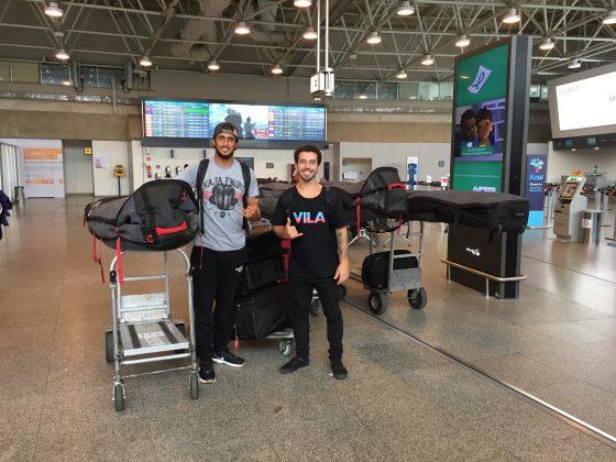 Lucas Chumbo e Renan Vignoli, Aeroporto Rio de Janeiro (RJ). Foto: Arquivo pessoal.