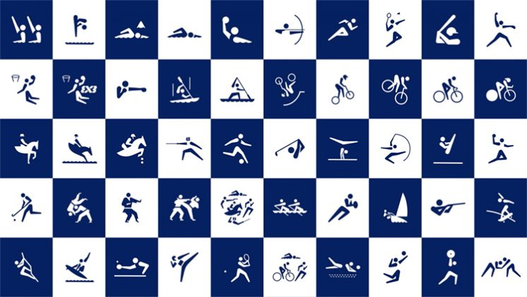 Pictogramas das Olimpíadas de Tóquio 2020. Foto: Reprodução.