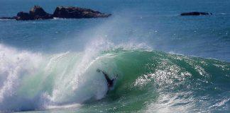 Bodysurfers dominam o pico