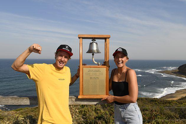 Jacob Wilcox e Kobie Enright, Rip Curl Pro Trials 2019, Winkipop, Austrália. Foto: Divulgação.