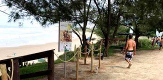 Restinga protegida na Vila
