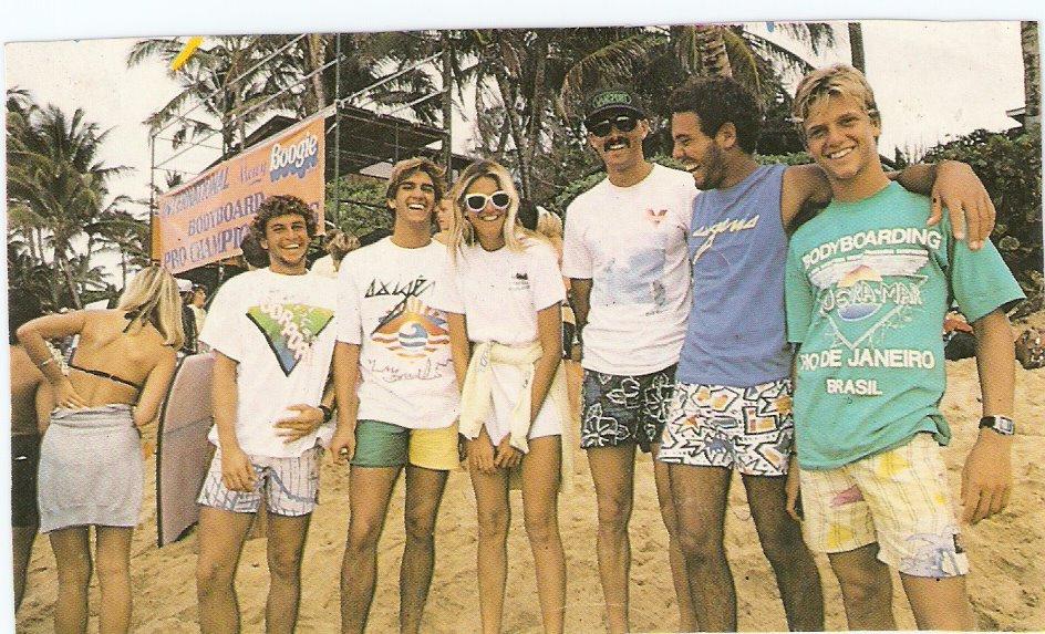 Tropa de elite carioca no Mundial de Pipeline, em 1986.