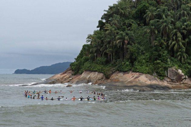 Homenagem a Dadá Nascimento, Quebra-Mar, Santos (SP). Foto: Munir El Hage.