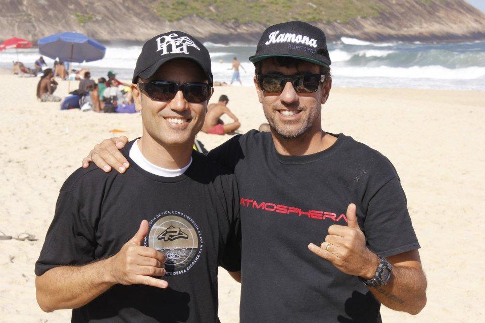 Rodrigo Monteiro e Fabio Aquino, fomentadores da categoria Master no litoral fluminense.
