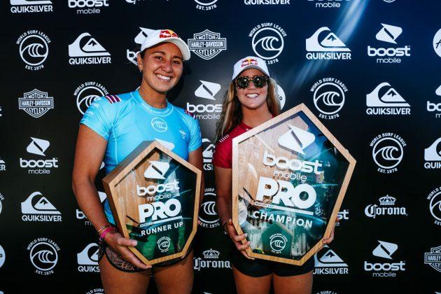 Carissa Moore e Caroline Marks, Pro Gold Coast 2019, Duranbah, Austrália. Foto: WSL / Cestari.