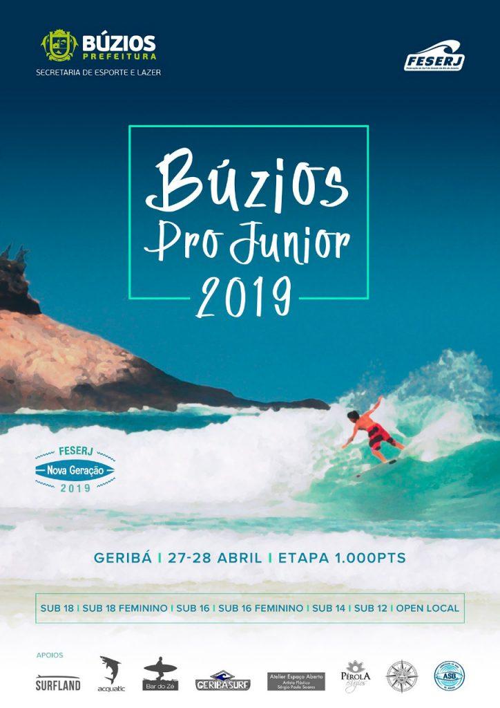 Cartaz do Búzios Pro Junior 2019.