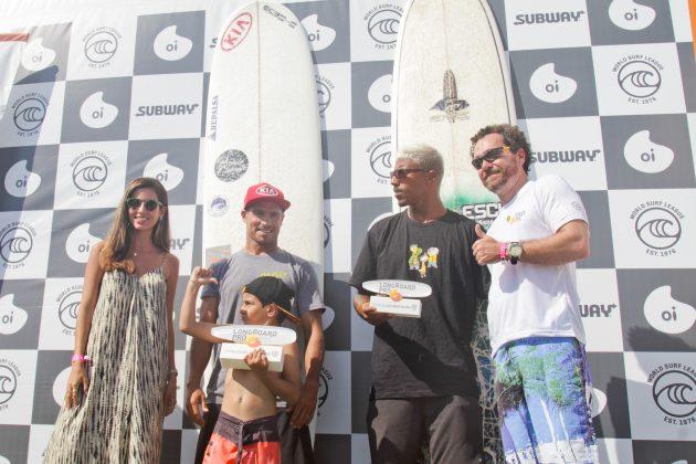 Pódio, Oi Longboard Pro 2019, Barra da Tijuca, Rio de Janeiro (RJ). Foto: Pedro Monteiro.