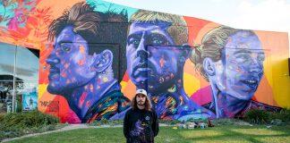 Mural eterniza ídolos