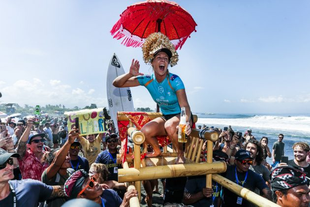 Stephanie Gilmore, Bali Protected 2019, Keramas, Indonésia. Foto: WSL / Dunbar.